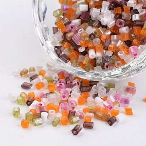 Seed Beads Two-Cut -  8/0 - Mixed - 50g